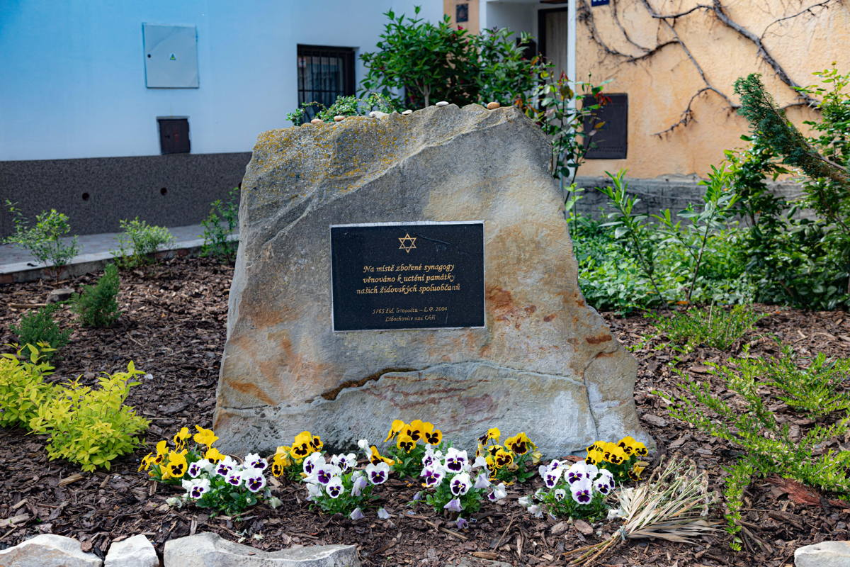 """""""This is to memorialize our Jewish citizens. On this place the demolished synagogue once stood."""""""