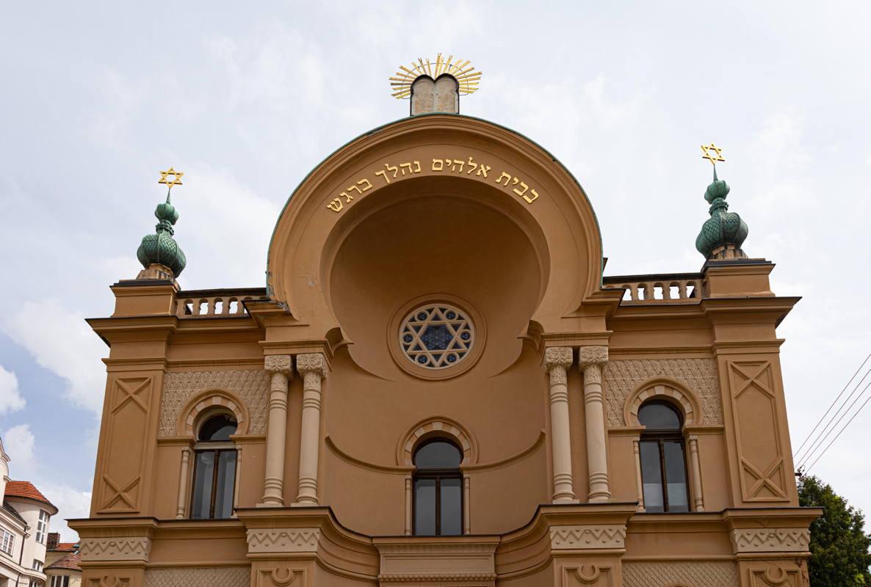 exterior of synagogue
