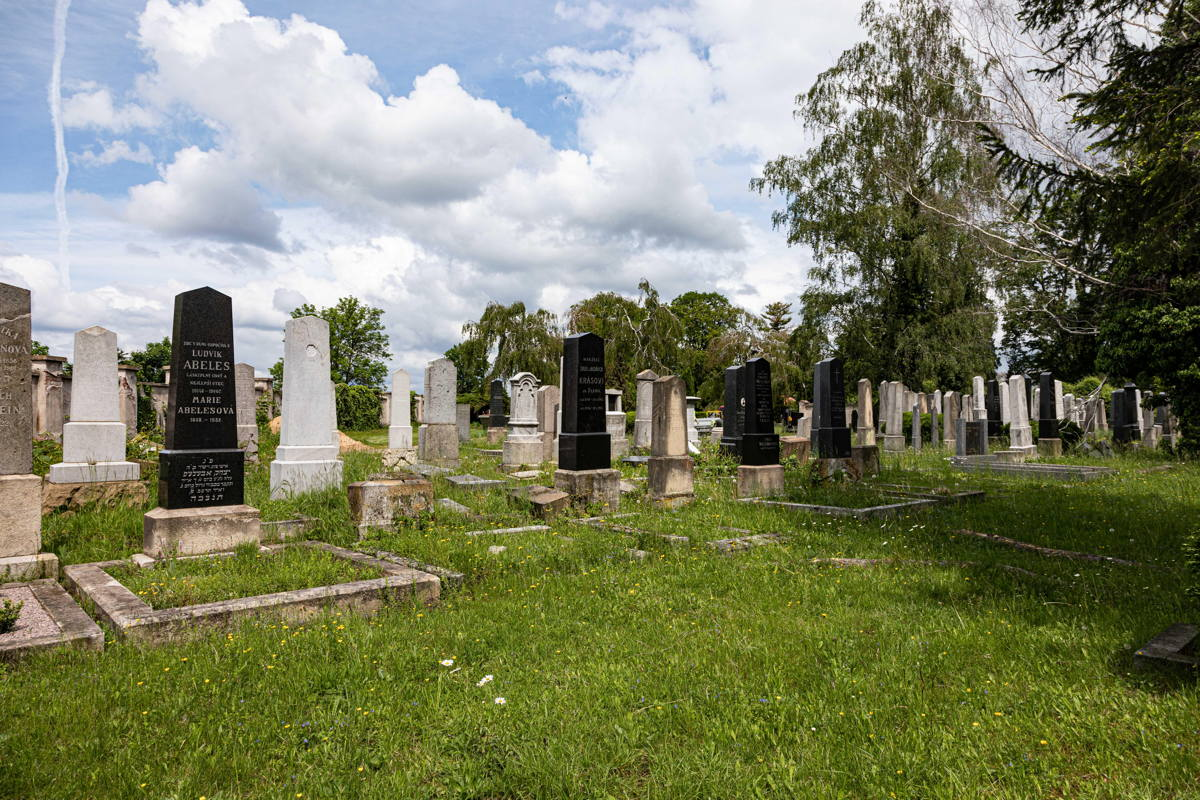 Within town cemetery, separate area