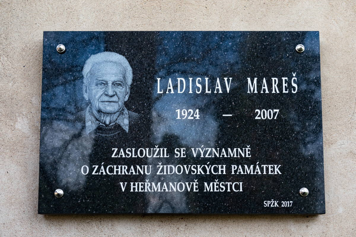 Through the efforts of Ladislav Mareš the synagogue and  cemetery were restored.