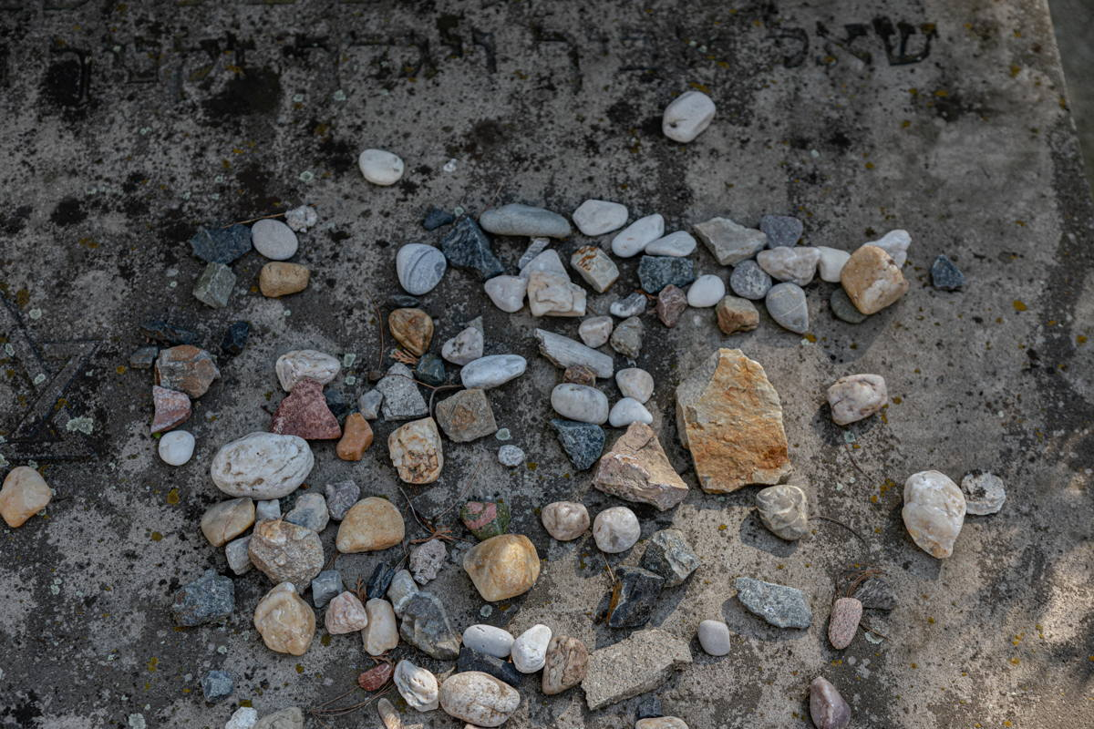 stones left by visitors