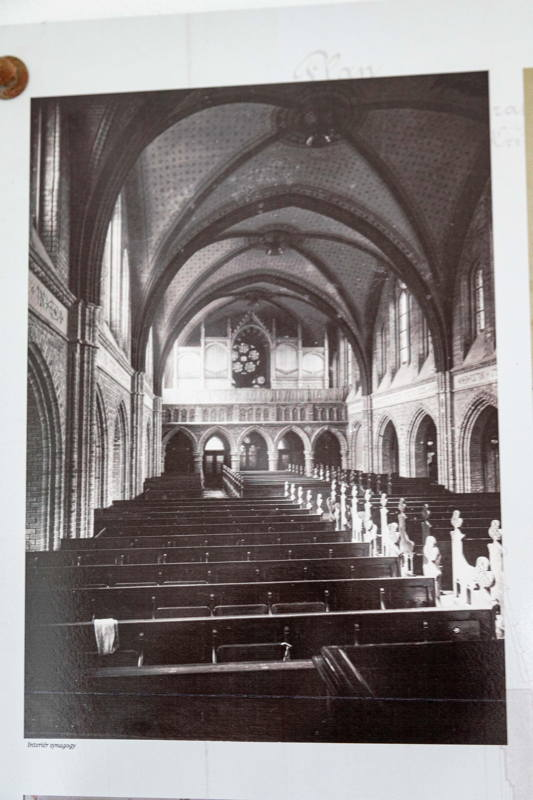 image of synagogue copied from exhibit