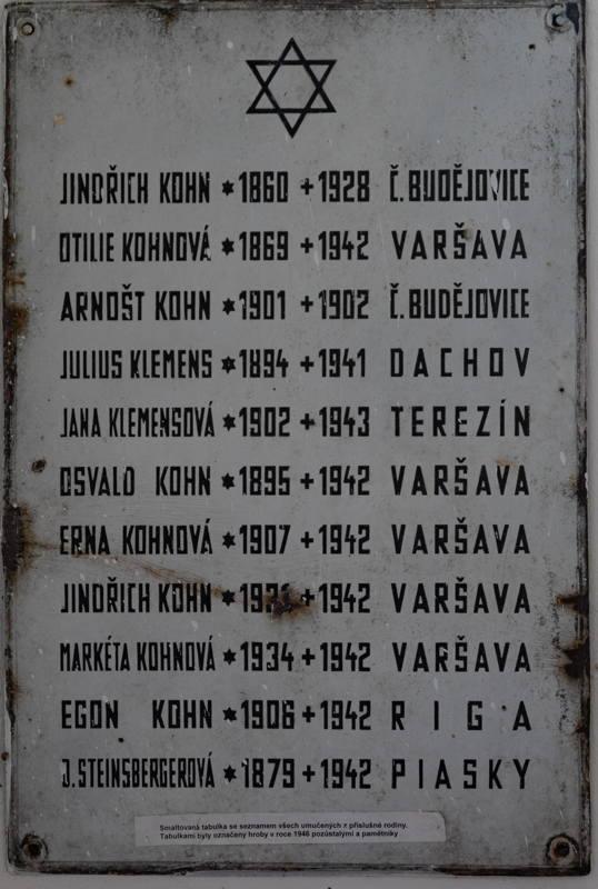 memorial to Kohn family