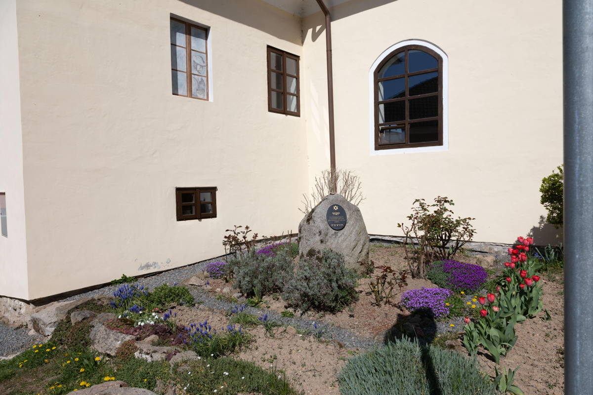 rabbi's house, prayer room, and synagogue