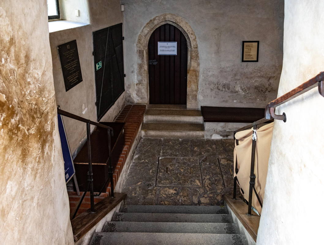 stairs down to sanctuary