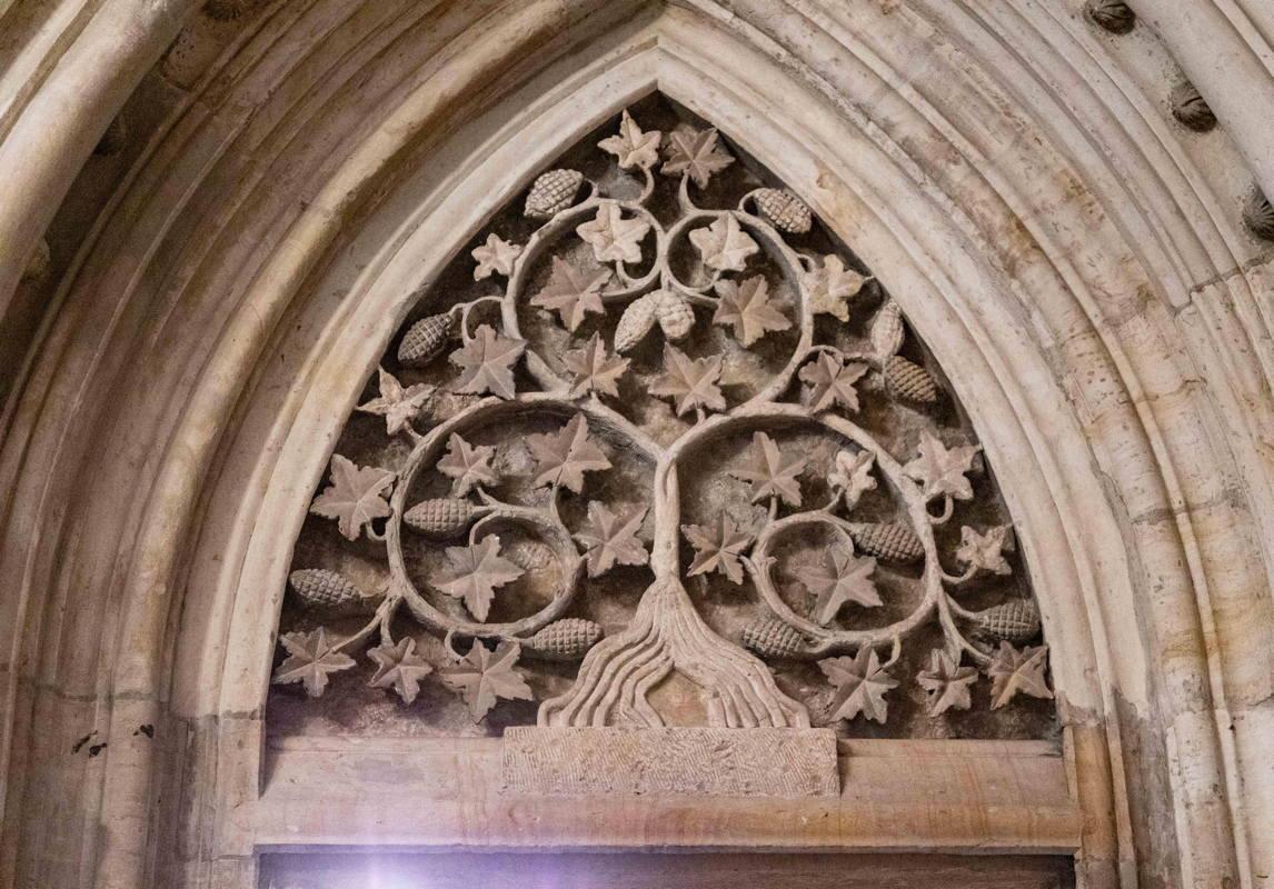 exquisite design above the portal