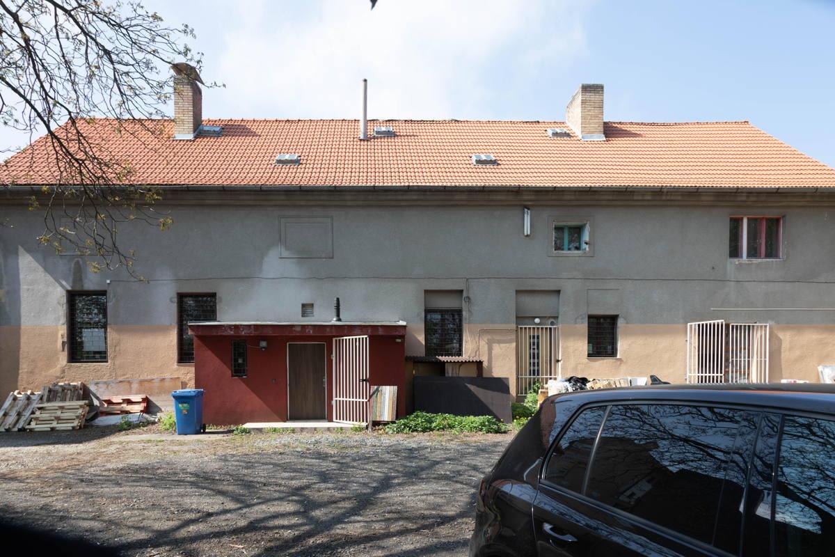 rear of building
