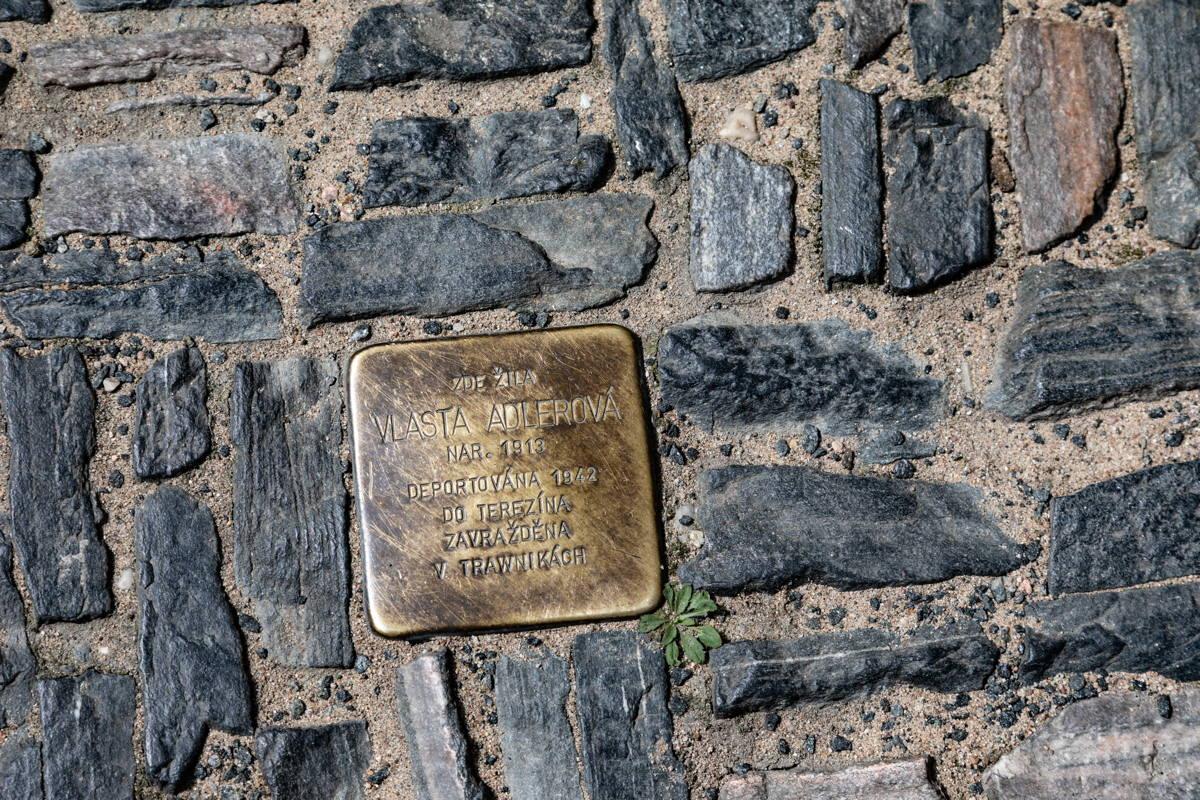 one of many Stolpersteines in Kolin
