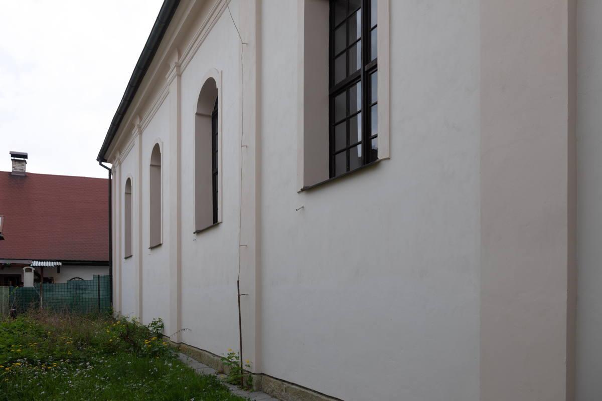 exterior wall to synagogue