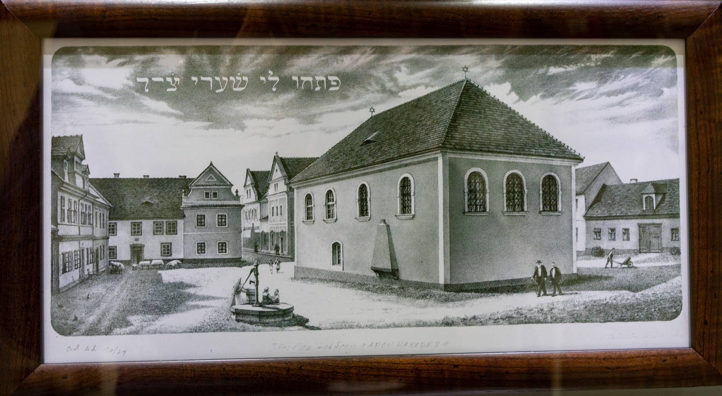 drawing from synagogue exhibit